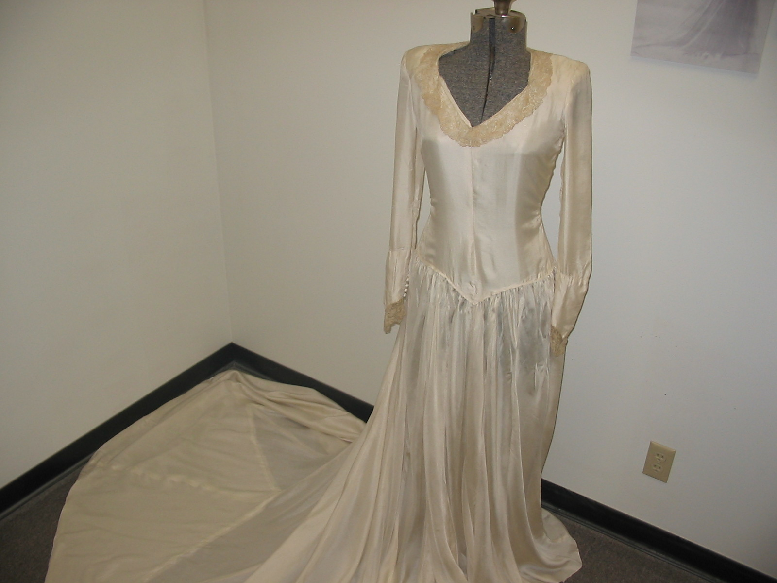 WWII Wedding Dress from Paratrooper Parachute